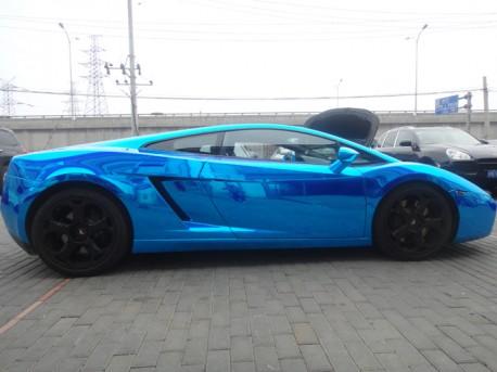 Lamborghini Gallardo in metallic-shiny-blue from China