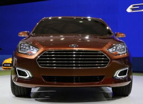 Ford Escort concept sedan debuts at the Shanghai Auto Show