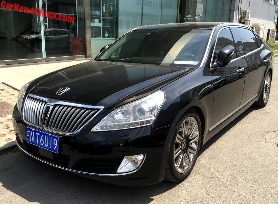 spotted in china hyundai equus limousine. Black Bedroom Furniture Sets. Home Design Ideas