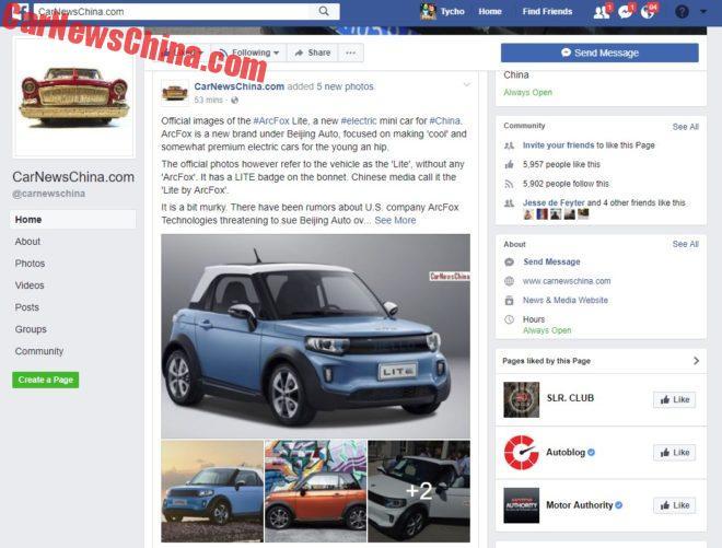 CarNewsChina.com, Facebook