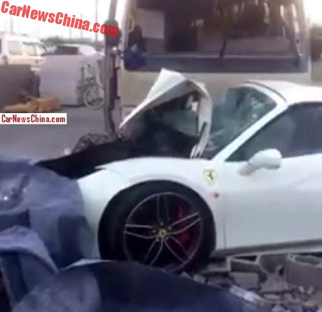 Ferrari 488 Spider Crashes In China