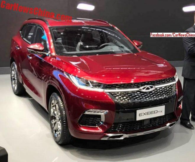 Chery Exeed TX debuts on the Frankfurt Motor Show