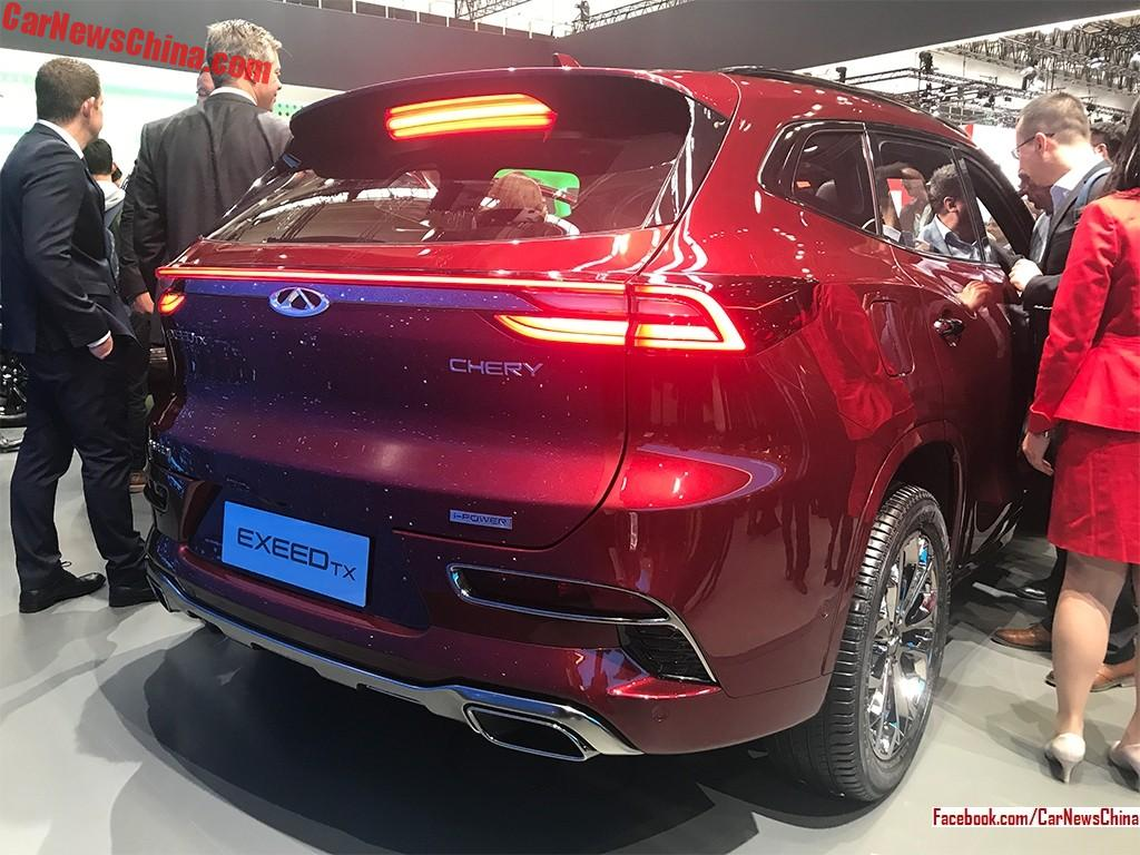 chery exeed tx debuts on the frankfurt motor show - carnewschina