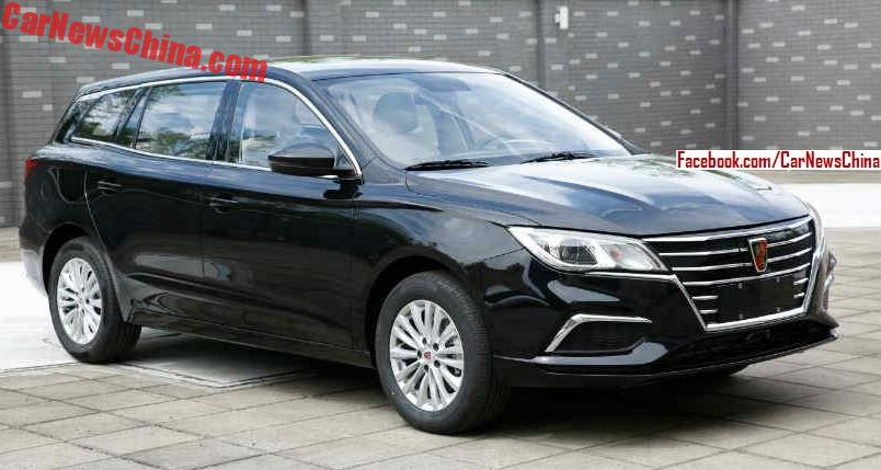 The Roewe Ei5 Is A New Electric Car For Chinese Market It Has Unique Wagon Like Design With Shiny Grille Up Front Size And Wheelbase Wise