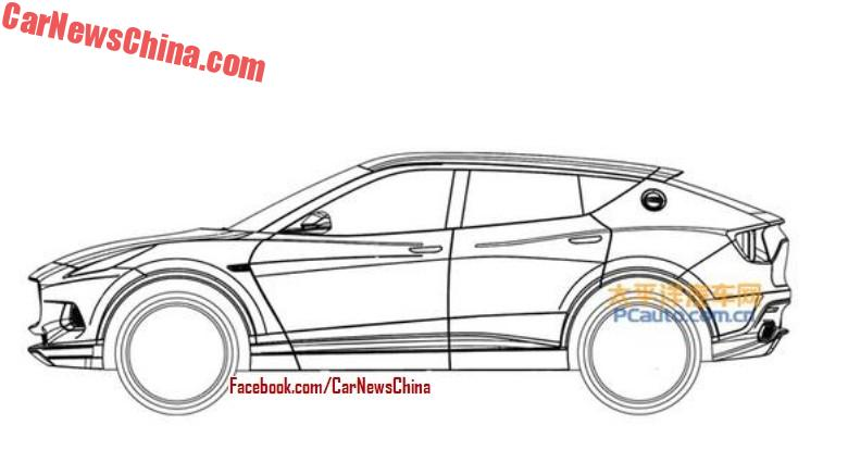 Leaked: Patent Drawings Of The New Lotus SUV - CarNewsChina.com