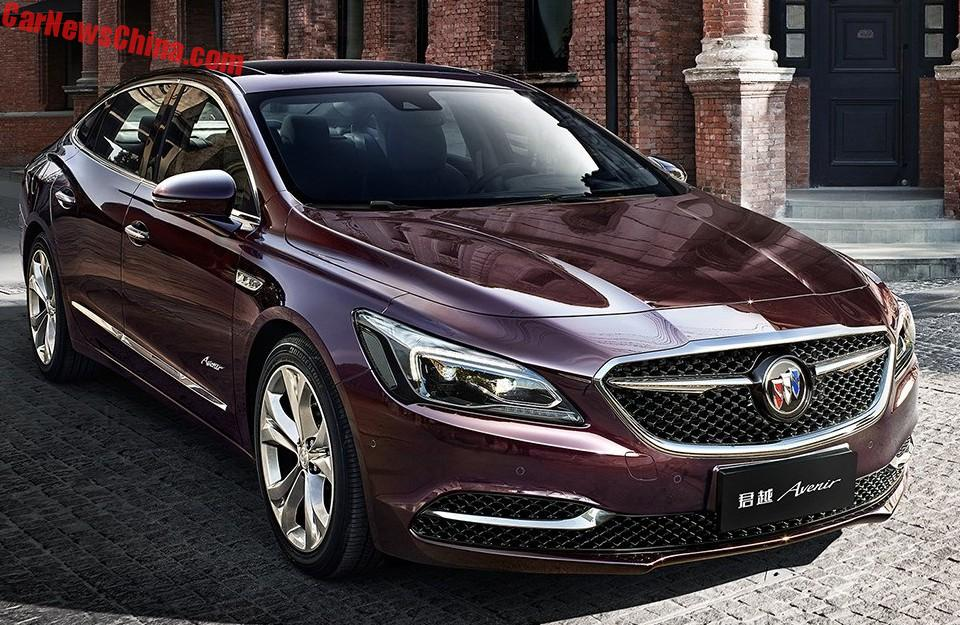 the avenir is an extra luxurious buick lacrosse for china. Black Bedroom Furniture Sets. Home Design Ideas
