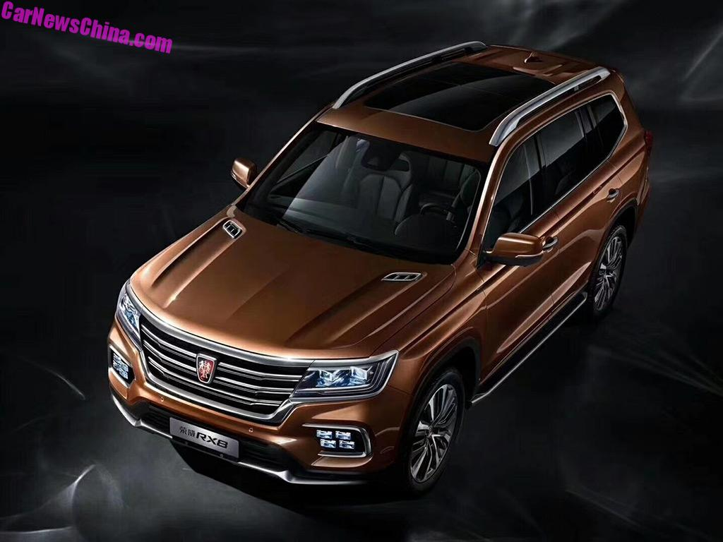 official photos of the roewe rx8 suv for china - carnewschina