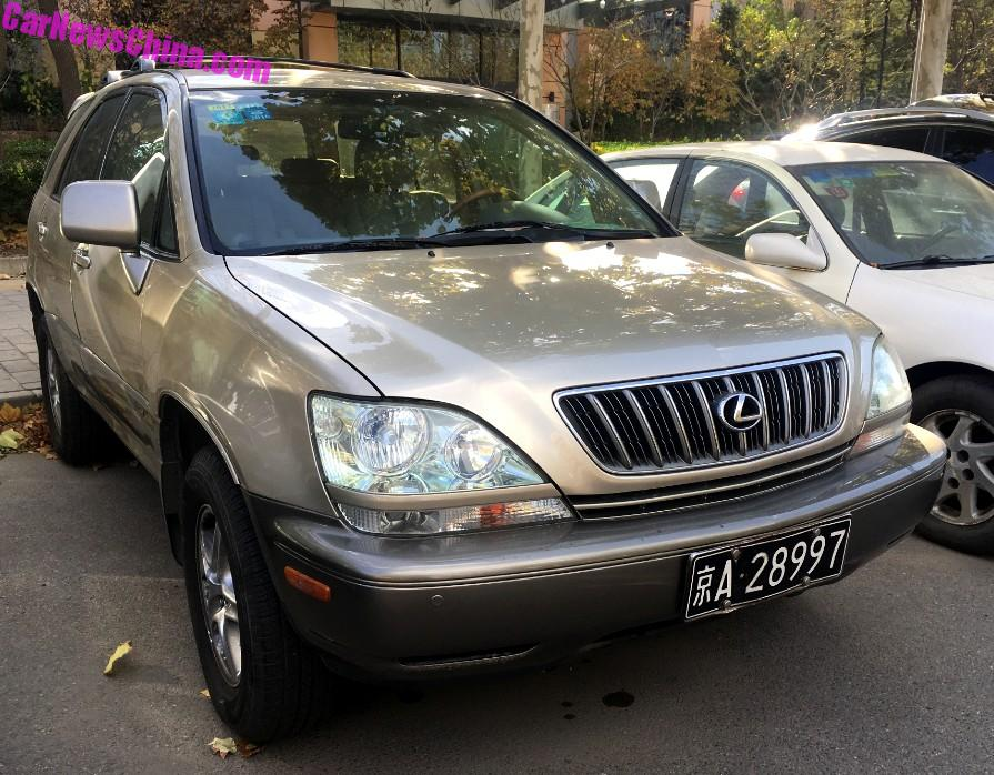 Spotted In China First Generation Lexus RX CarNewsChinacom - Lexus capital