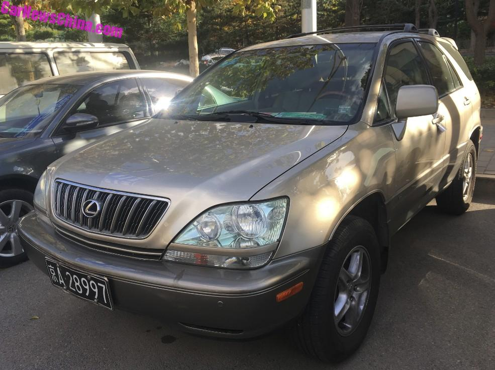 Spotted In China: First Generation Lexus RX300 - CarNewsChina com