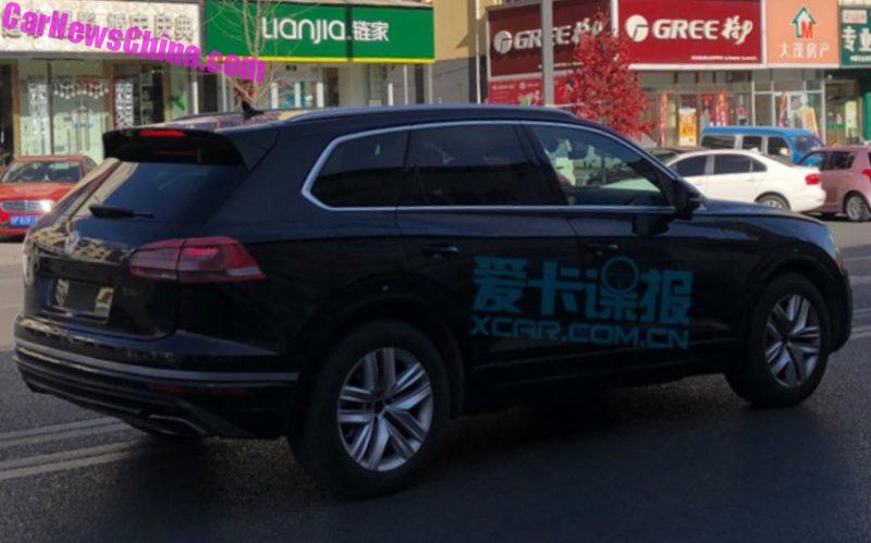 Spy Shots 2019 Volkswagen Touareg Is Naked In China Carnewschina Com