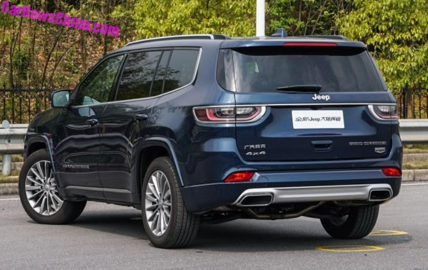It Is Positioned Above The Locally Made Jeep Cherokee Chinese Name Of Grand Commander Da Zhihuigan Literally