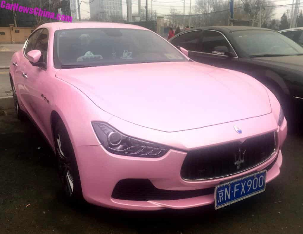 pink cars in china archives. Black Bedroom Furniture Sets. Home Design Ideas