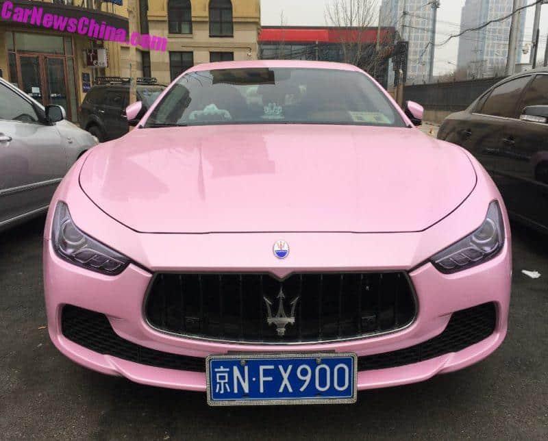 Maserati Ghibli Is Pink In China Carnewschina Com