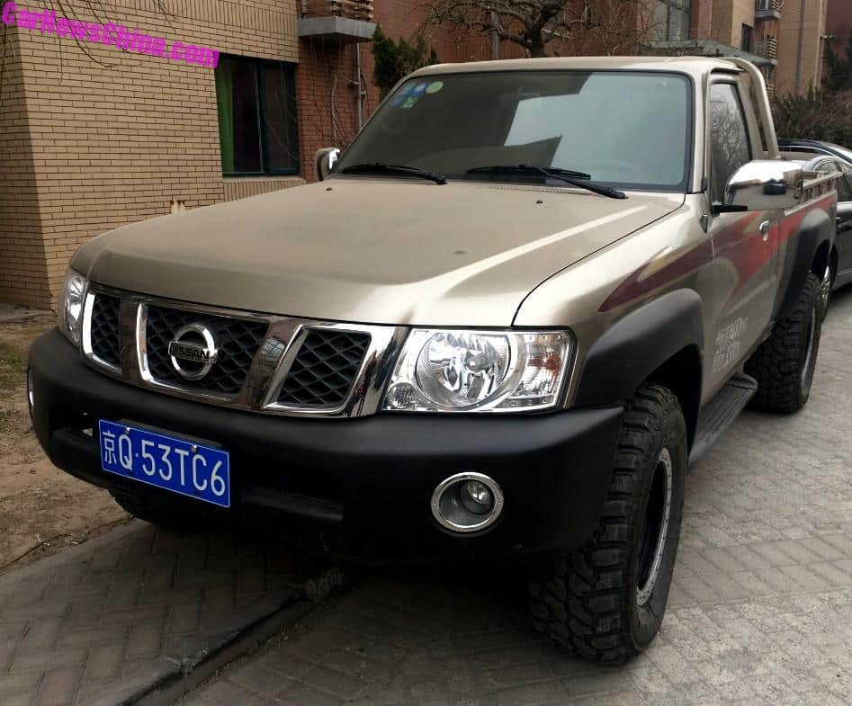 spotted in china y61 nissan patrol two door pickup truck. Black Bedroom Furniture Sets. Home Design Ideas