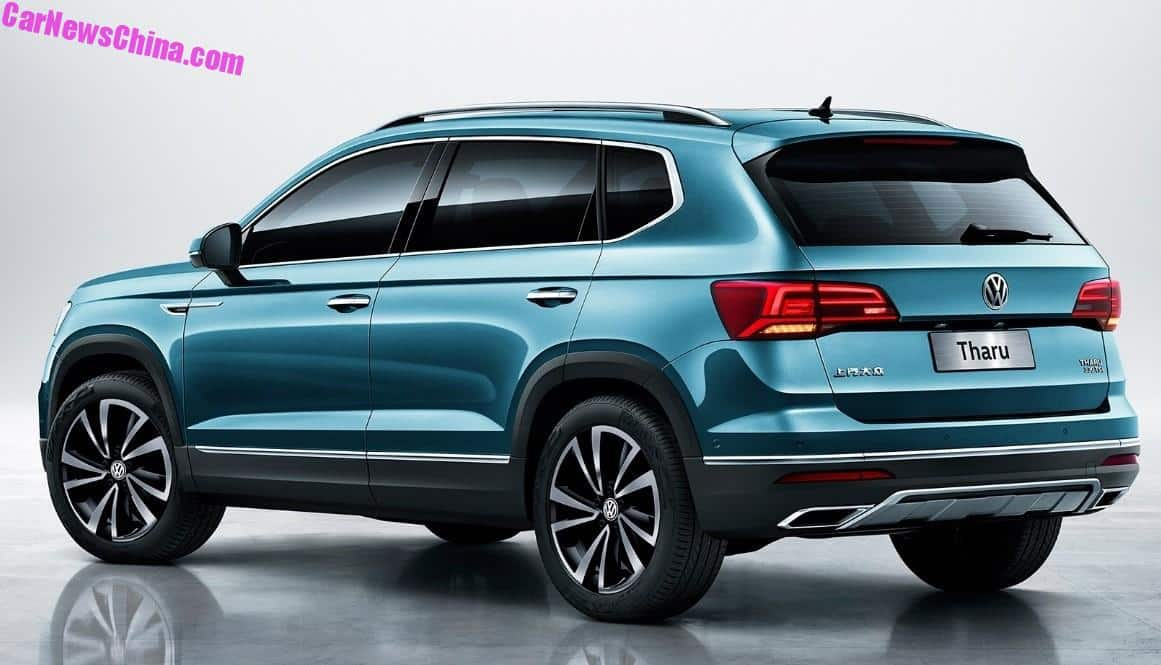 Official Images Of The Volkswagen Tharu SUV For China ...