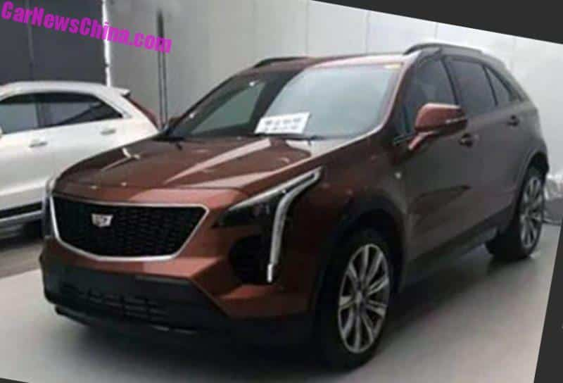 new photos of the china made cadillac xt4 suv. Black Bedroom Furniture Sets. Home Design Ideas