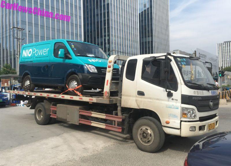 NIO Power charging van