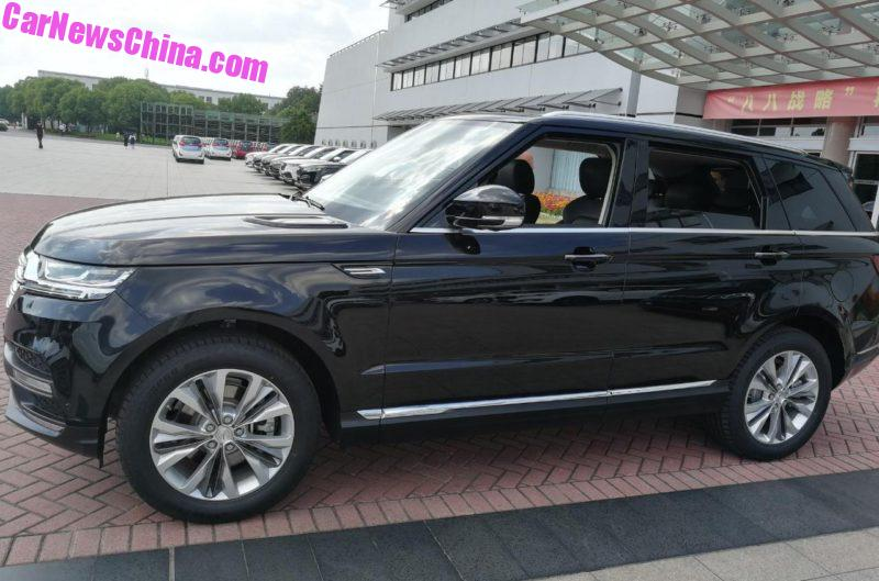 Zotye T900 Range Rover clone in China
