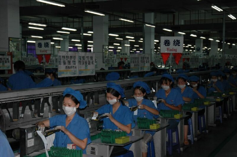 BYD battery production line (around 2000)